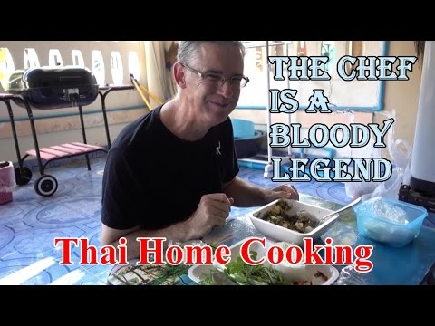 Thai BBQ Eggplant Tum Ma Khen (ตำมะเขือ) Northern Style home cooking