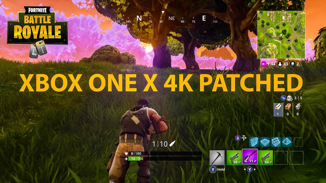 Fortnite Battle Royale Running In 4k On Xbox One X How Does It Look