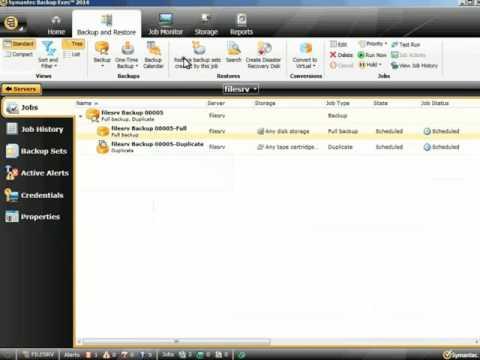 Symantec Backup Exec 2014  - Restoring Backup Sets Created By A Specific Backup Job