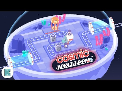 [FR] Cosmic Express Gameplay - Let's play découverte du puzzle game tout mignon Cosmic Express