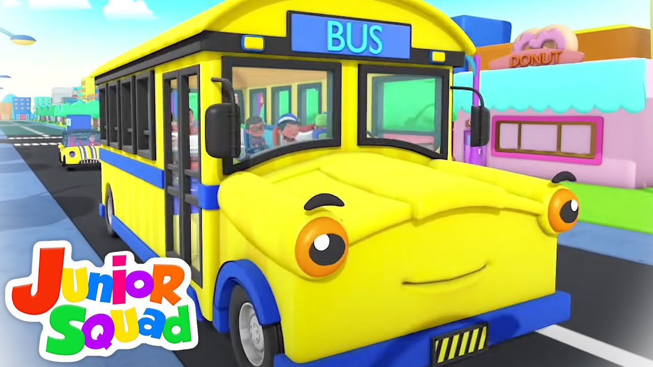 Wheels On The Bus Go Round and Round | School Bus Song | Nursery Rhymes and Children Songs