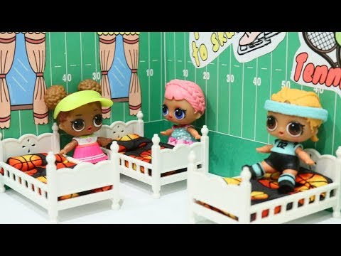 LOL Surprise Dolls Athletic Club Morning Routine and Room Tour - Baby Doll Play With Toys and Dolls