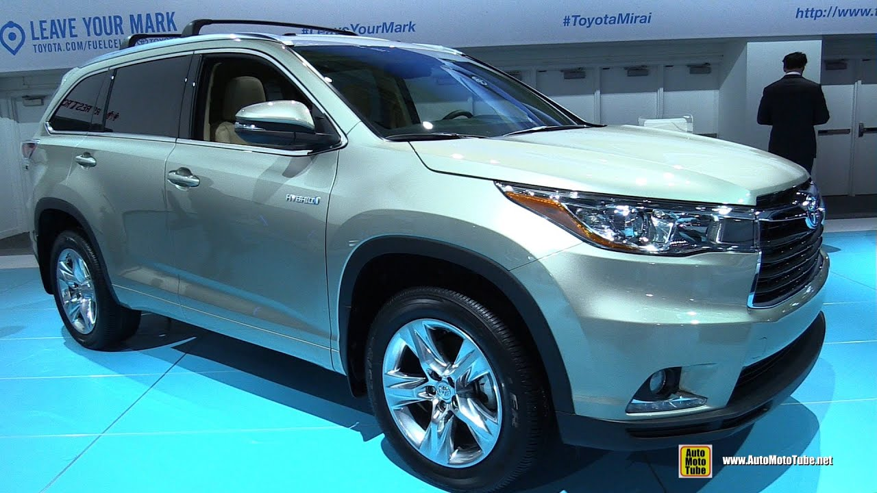 Toyota Highlander Hybrid Interior >> 2015 Toyota Highlander Hybrid Limited - Exterior and Interior Walkaround - 2015 Detroit Auto ...