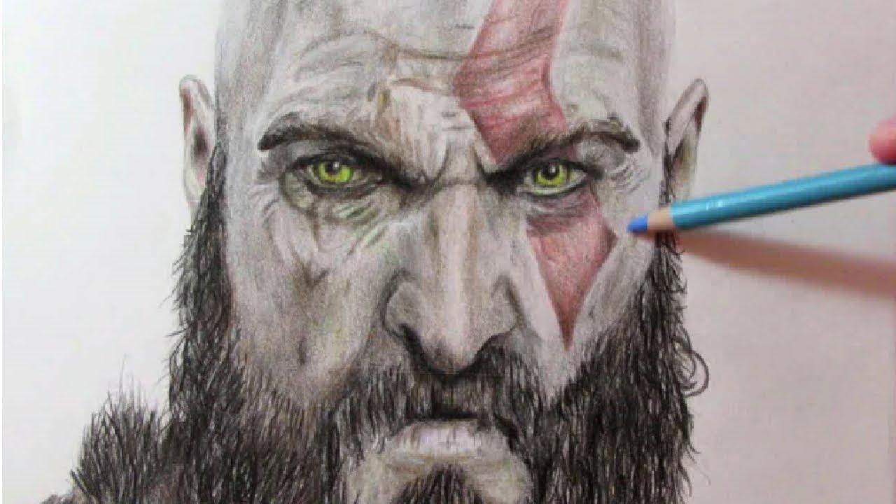 Como Dibujar A Kratos De God Of War How To Draw Kratos