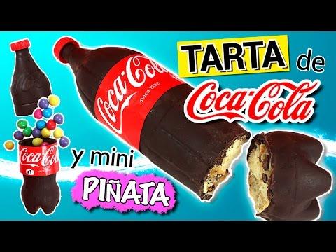 TARTA de COCA COLA de chocolate y MINI PIÑATA