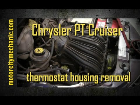 Chrysler Pt Cruiser 2 4 Upper Thermostat Housing Removal And Replacement Youtube