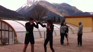 Les boxeurs de Monnay au Camping Champ La Chèvre