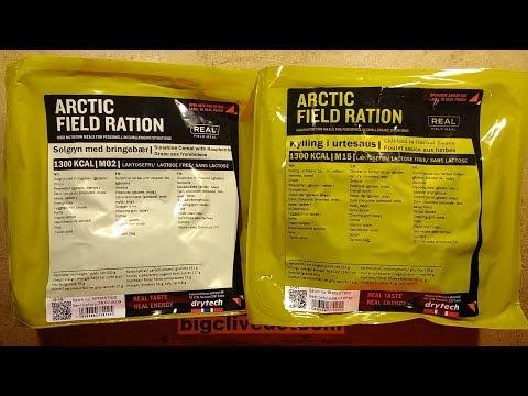 Norwegian MRE food rations.