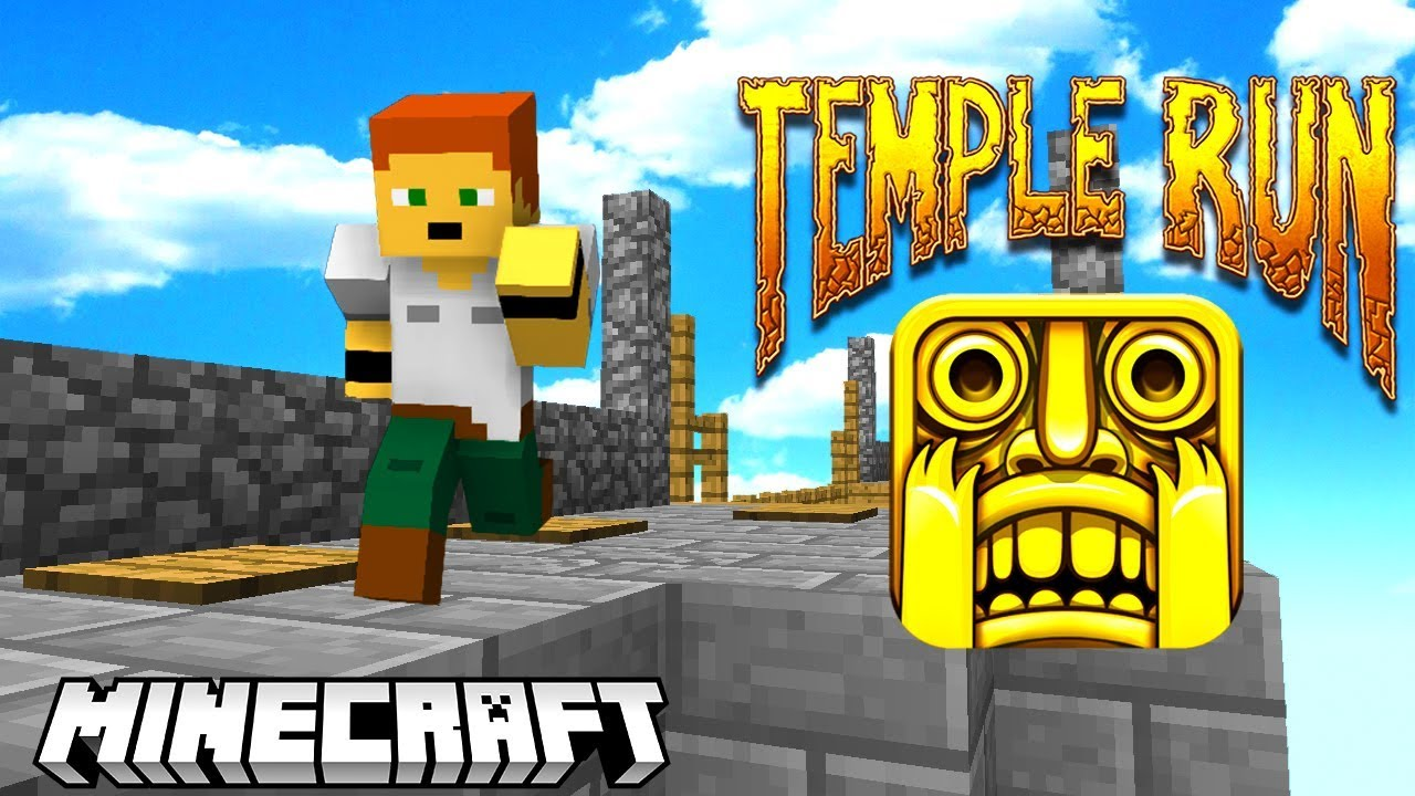TEMPLE RUN w MINECRAFT!