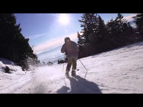 Alpine skier - just a perfect day
