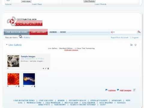 Live Rotator - Integration w/Live Gallery | DotNetNuke Module | Mandeeps.com