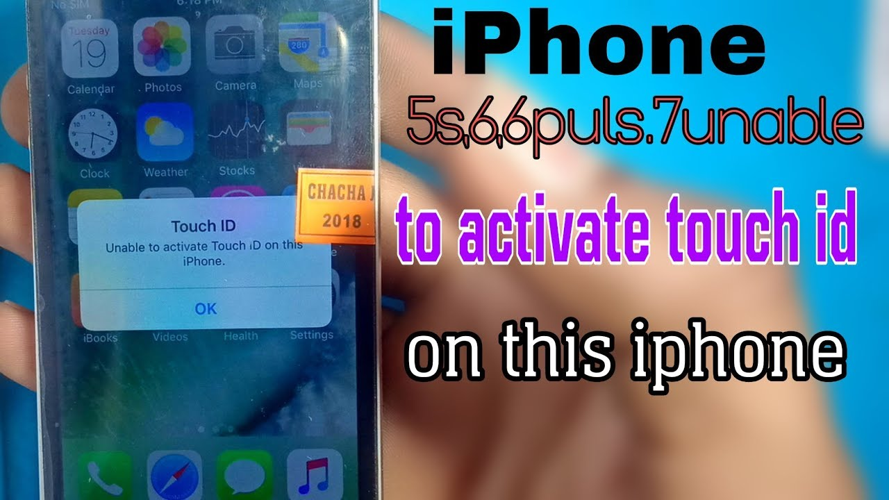 iphone 5s 6,6plus,7,7plus unable to activate touch id on this i