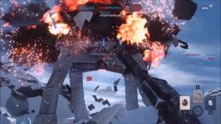 Star Wars: Battlefront - Destroying AT-AT Walkers