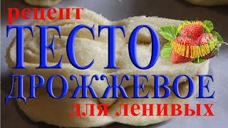 Сдобное дрожжевое тесто для ленивых рецепт для пирогов булочек и плюшек