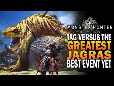 Tag Vs The Greatest Jagras, It Kicked My @$# Monster Hunter World PC Event thumbnail