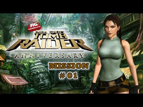 Tomb Raider Anniversary Level 01 - Full Game Play - All Hidden Secrets |