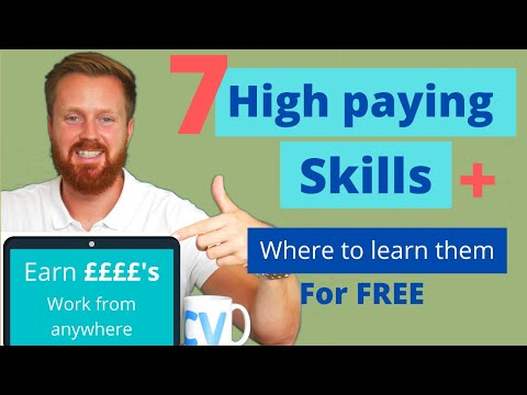 7 High Paying Skills & Where To Learn Them For Free | Increase Your Income & Work Remotely