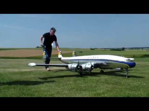 3x R/C Lockheed Super Constellation L-1049G fly at the same Time