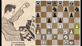 ШЕДЕВР позиционной игры на ДВУХ ФЛАНГАХ от Марка Тайманова!Шахматы.