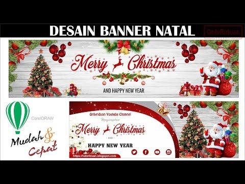 Cara Membuat Spanduk Selamat Natal Di CorelDRAW - Merry Chistmas Banner