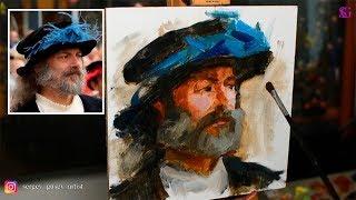 Как написать портрет маслом за один час?