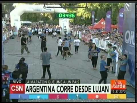 C5N -  ARGENTINA CORRE EN LUJAN LLEGADA
