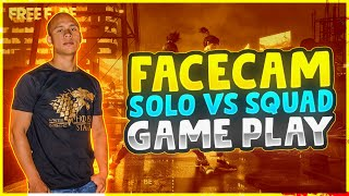1st Face Cam Solo Vs Squad Situation Game Play of Tonde Gamer in Pro Lobby - Garena Free Fire