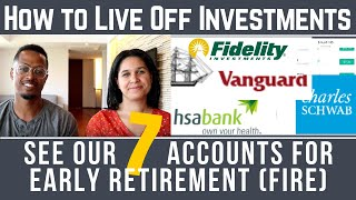 How to Live Off Investments & Retire Early | Our Seven Account Strategy for Financial Independence