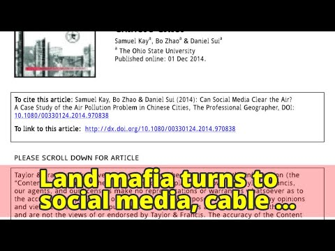 Land mafia turns to social media, cable networks