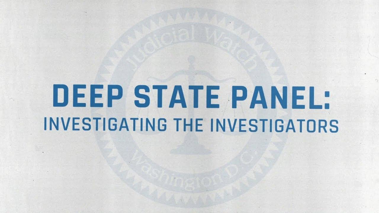 Judicial Watch Presents: 'Investigating the Investigators'