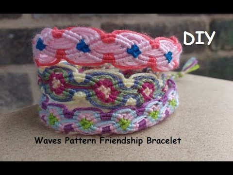 DIY Friendship Bracelet Double Crossing Waves Pattern Tutorial Interesting Double Wave Friendship Bracelet Pattern