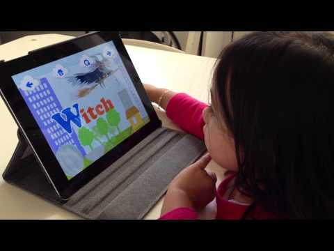 Girl with Kid's Academy's  Preschool and Kindergarten Learning Games V1
