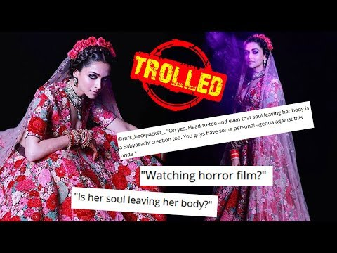 Deepika Padukone BRUTALLY TROLLED For Her Wedding Party Dress