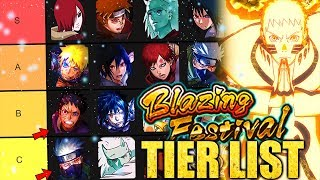 Naruto Blazing's Blazing Fest Tier List - 3rd