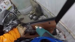 Замер тонировки боковых стёкл сотрудниками ДПС. Снятие плёнки с Range Rover.