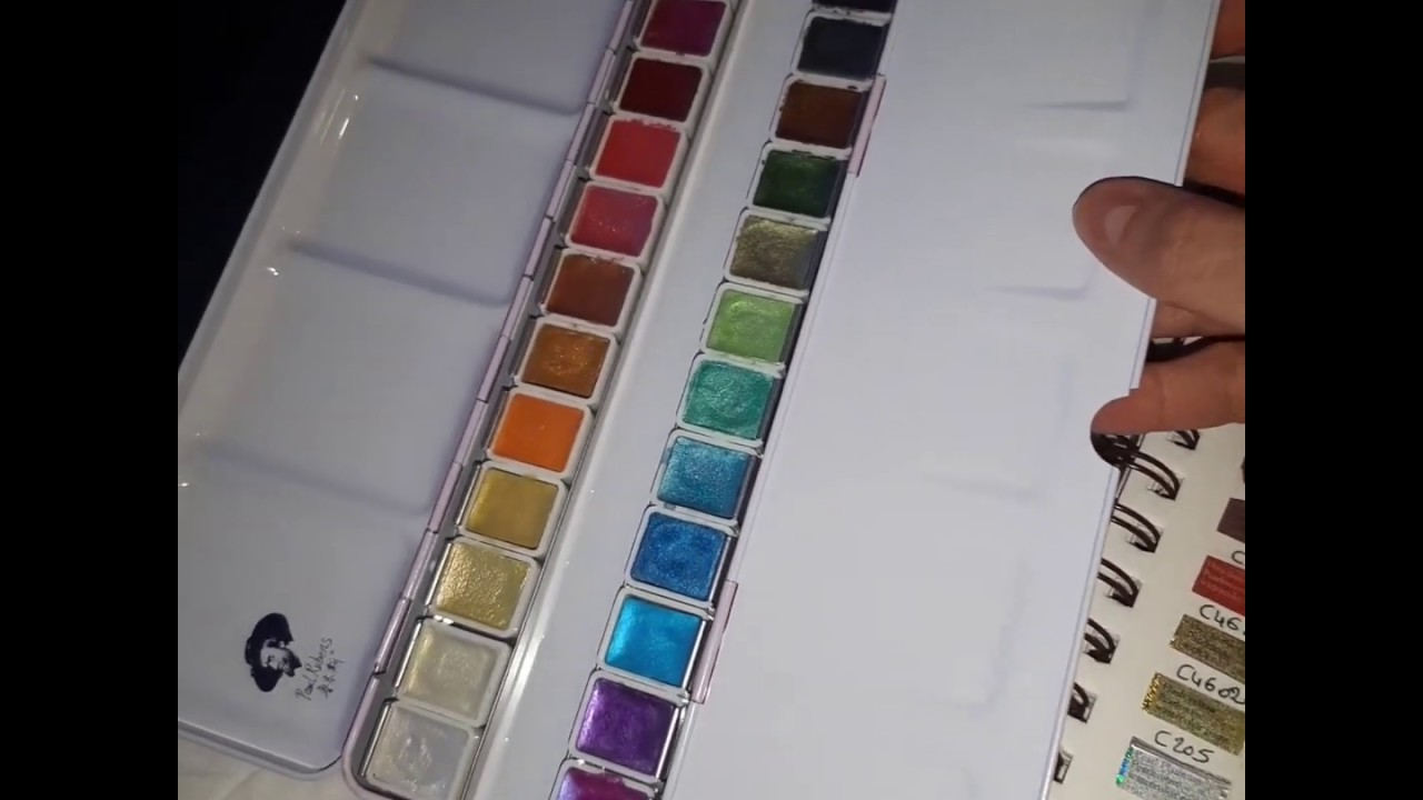Presentation Palette D Aquarelle Nacree Paul Rubens 24 Couleurs