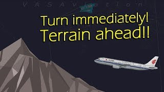 [REAL ATC] Air China A320 receives TERRAIN ALERT | ALMOST CRASHED
