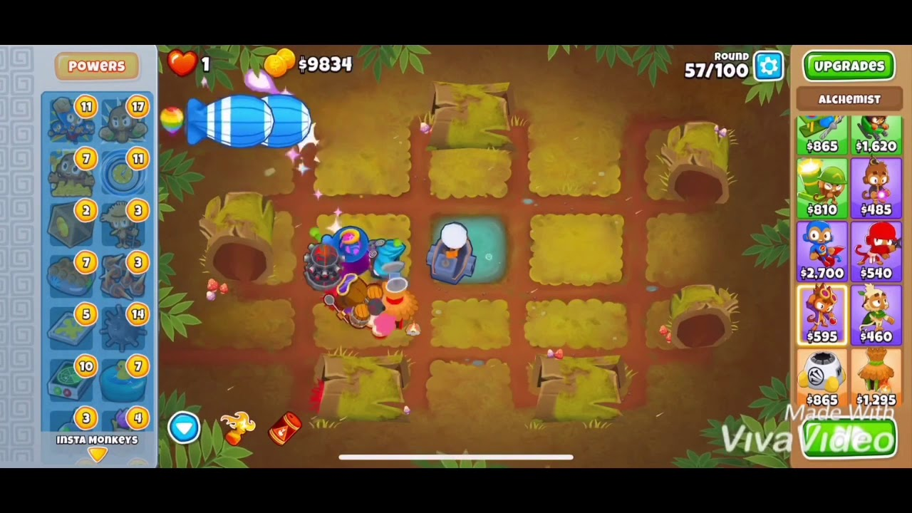 Logs CHIMPS walkthrough- easy strategy- BTD6