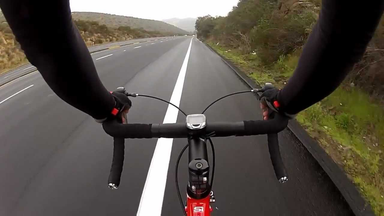 GoPro Hero 2 chest mount test road bike - YouTube
