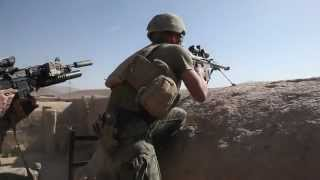 Recon Marine Sniper in Firefight With Taliban Near Sangin - Barrett Rifle - USMC Sniper