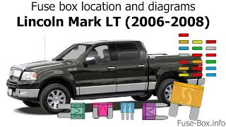 Fuse box location and diagrams: Lincoln Mark LT (2006-2008) - YouTube