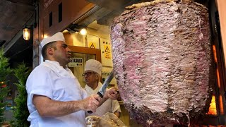 TURKISH STREET FOOD IN ISTANBUL - World's Biggest Doner Kebab