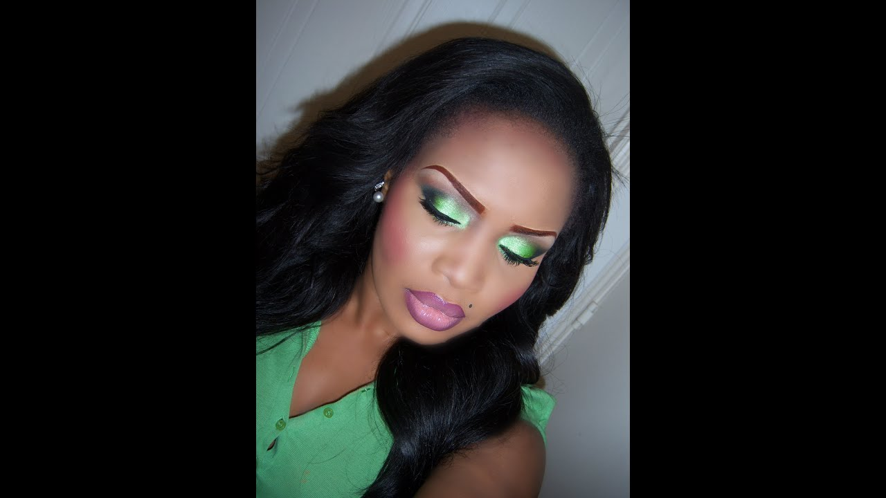 Lime Green Smokey Eye Makeup Tutorial
