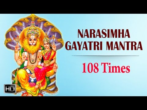 Narasimha Gayatri Mantra - 108 Times Chanting with Lyrics - Powerful Mantra for Peace