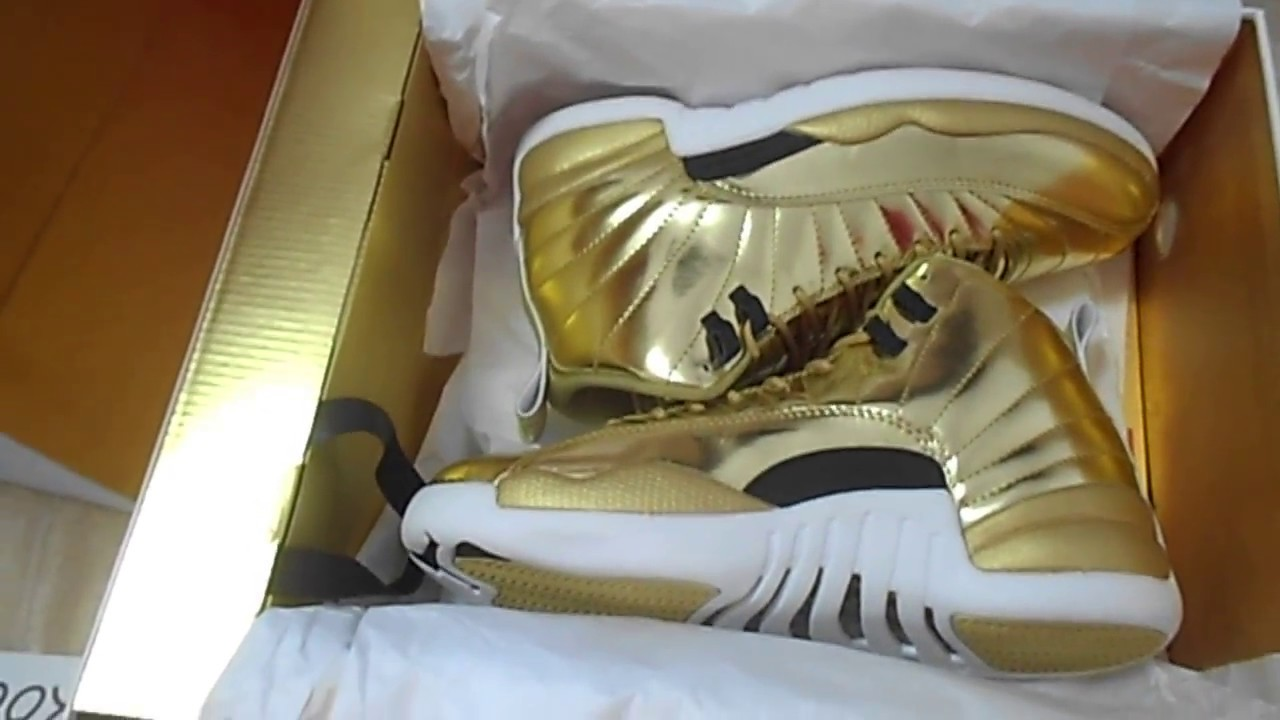 best service e9799 5aed4 Authentic Air Jordan 12 Pinnacle Gold From Loookooo.com