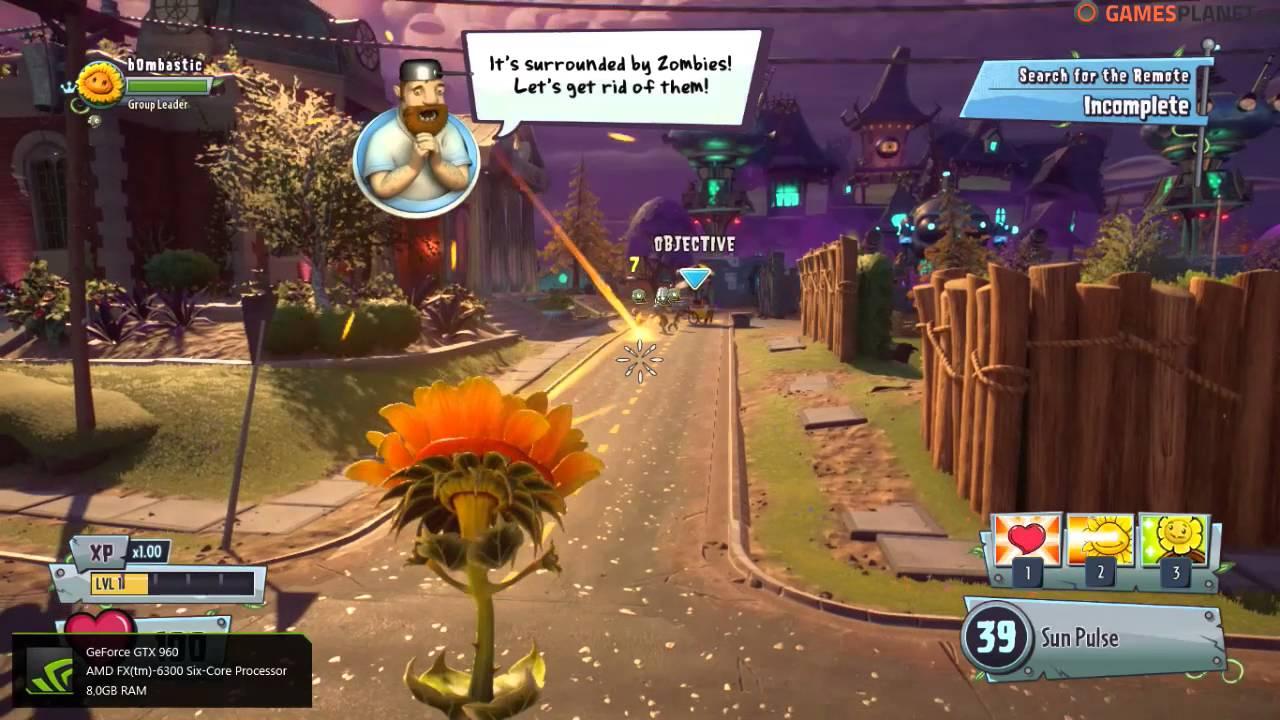 Plants vs Zombies Garden Warfare 2 Max Settings on GTX 960 / FX 6300 ...