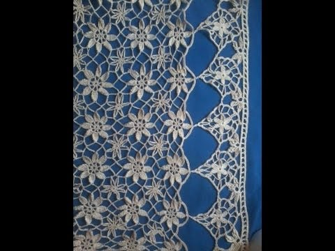 A Lace Curtain In Crochet Lace