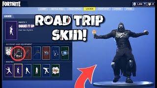 """NEW """"ENFORCER"""" ROAD TRIP SKIN IN-GAME WITH ALL LEAKED EMOTES! Fortnite Battle Royale - ENFORCER SKIN"""