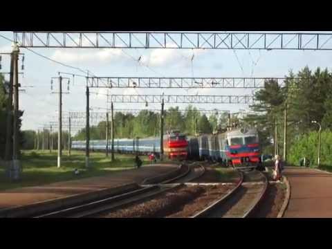 «Ещё бы секунда и... » ЧС4Т-510 с поездом Москва - Минск