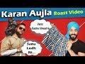 Karan Aujla New Punjabi Song Roast Video Aman Aujla